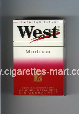 West (design 3) (Medium / American Blend) ( hard box cigarettes )