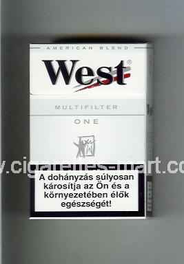 West (design 3) (Multifilter / One / American Blend) ( hard box cigarettes )