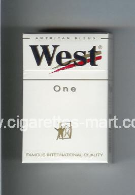 West (design 3) (One / American Blend) ( hard box cigarettes )