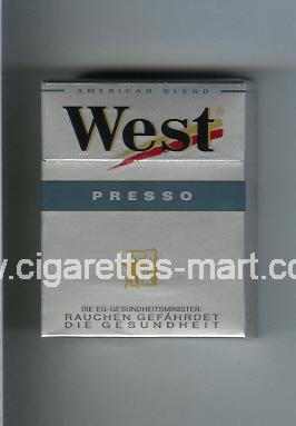West (design 3) (Presso / American Blend) ( hard box cigarettes )