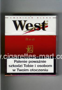 West (design 3) (Red / American Blend) ( hard box cigarettes )