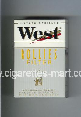 West (design 3) (Rollies / Filter / Lights / Filter Cigarillos) ( hard box cigarettes )
