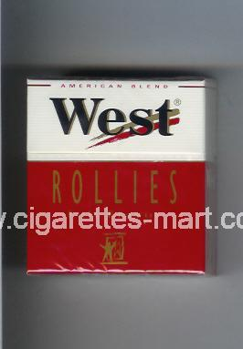 West (design 3) (Rollies / Full Flavor / American Blend) ( hard box cigarettes )