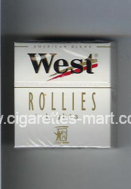 West (design 3) (Rollies / Lights / American Blend) ( hard box cigarettes )
