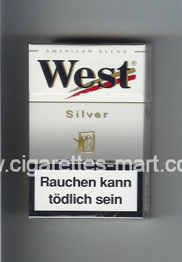 West (design 3) (Silver / American Blend) ( hard box cigarettes )