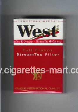 West (design 3) (StreamTec Filter / Full Flavor / American Blend) ( hard box cigarettes )