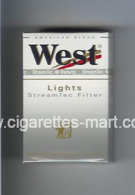 West (design 3) (StreamTec Filter / Lights / American Blend) ( hard box cigarettes )