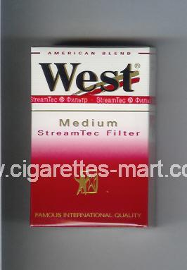 West (design 3) (StreamTec Filter / Medium / American Blend) ( hard box cigarettes )