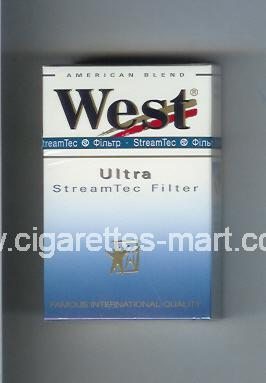 West (design 3) (StreamTec Filter / Ultra / Anerican Blend) ( hard box cigarettes )