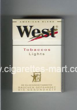West (design 3) (Tobaccos / Lights / American Blend) ( hard box cigarettes )
