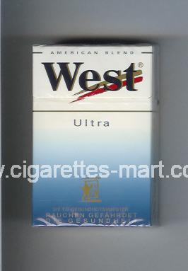 West (design 3) (Ultra / American Blend) ( hard box cigarettes )