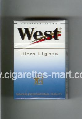 West (design 3) (Ultra Lights / Anerican Blend) ( hard box cigarettes )