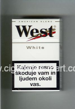 West (design 3) (White / American Blend) ( hard box cigarettes )