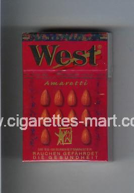 West (design 3A) (Amaretti / Finest Blend) ( hard box cigarettes )
