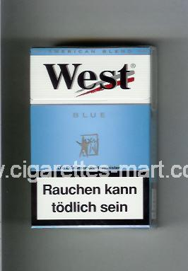 West (design 3A) (Blue / American Blend) ( hard box cigarettes )