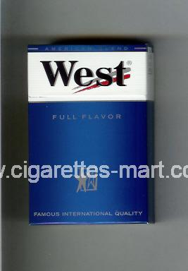 West (design 3A) (Full Flavor / American Blend) ( hard box cigarettes )