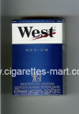 West (design 3A) (Medium / American Blend) ( hard box cigarettes )