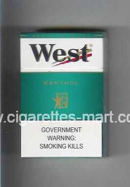 West (design 3A) (Menthol / American Blend) ( hard box cigarettes )