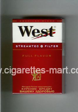 West (design 3A) (Streamtec Filter / Full Flavor / Anerican Blend) ( hard box cigarettes )