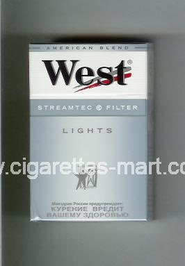 West (design 3A) (Streamtec Filter / Lights / Anerican Blend) ( hard box cigarettes )