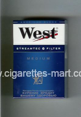 West (design 3A) (Streamtec Filter / Medium / Anerican Blend) ( hard box cigarettes )