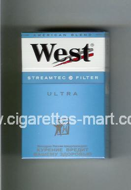 West (design 3A) (Streamtec Filter / Ultra / Anerican Blend) ( hard box cigarettes )