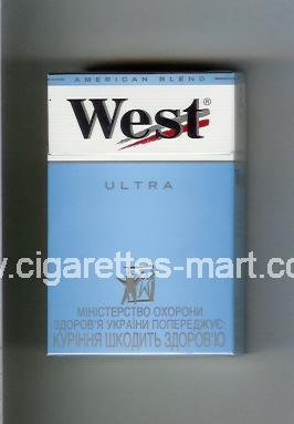 West (design 3A) (Ultra / American Blend) ( hard box cigarettes )