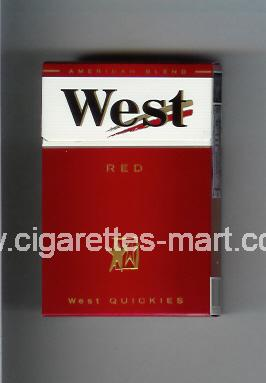 West (design 3A) (West Quickies / Red / American Blend) ( hard box cigarettes )