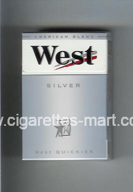 West (design 3A) (West Quickies / Silver / American Blend) ( hard box cigarettes )