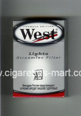 West (design 5) (Lights / StreamTec Filter / Formula Edition) ( hard box cigarettes )