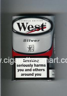 West (design 5) (Silver / Formula Edition) ( hard box cigarettes )