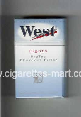 West (design 6) (Lights / ProTec Charcoal Filter / American Blend) ( hard box cigarettes )