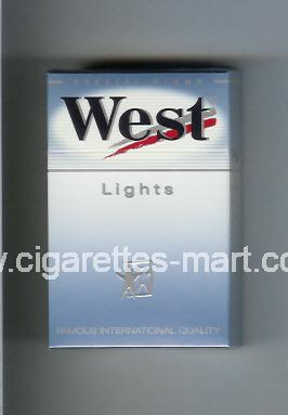 West (design 6) (Lights / Special Blend) ( hard box cigarettes )
