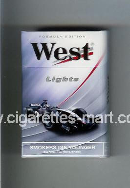 West (design 7) (Lights / Formula Edition) ( hard box cigarettes )