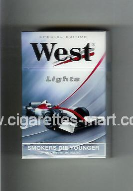 West (design 7) (Lights / Special Edition) ( hard box cigarettes )