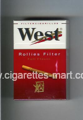 West (design 8) (Rollies Filter / Full Flavor / Filter Cigarillos) ( hard box cigarettes )