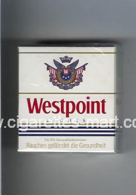 Westpoint (german version) (design 1) (Lights) ( hard box cigarettes )