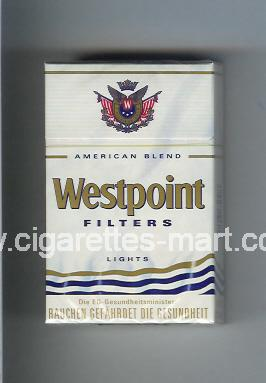 Westpoint (german version) (design 2) (Filters / Lights / American Blend) ( hard box cigarettes )