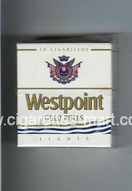Westpoint (german version) (design 2) (Gold Rolls / Lights) ( hard box cigarettes )