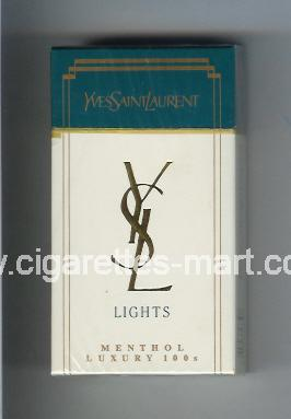 YSL (design 1) Yves Saint Laurent (Lights / Menthol) ( hard box cigarettes )