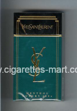 YSL (design 1) Yves Saint Laurent (Menthol) ( hard box cigarettes )