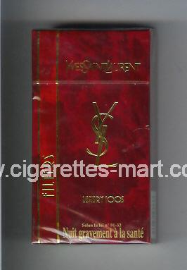 YSL (design 2) Yves Saint Laurent (Filters / Luxury) ( hard box cigarettes )