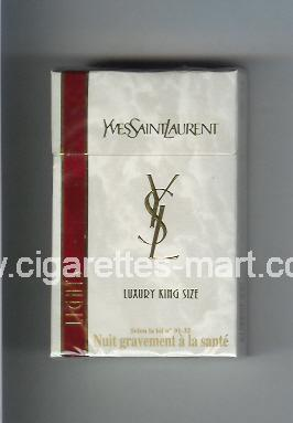 YSL (design 2) Yves Saint Laurent (Lights / Luxury) ( hard box cigarettes )