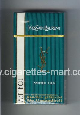 YSL (design 2) Yves Saint Laurent (Menthol) ( hard box cigarettes )