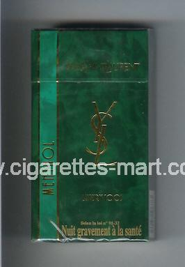 YSL (design 2) Yves Saint Laurent (Menthol / Luxury) ( hard box cigarettes )